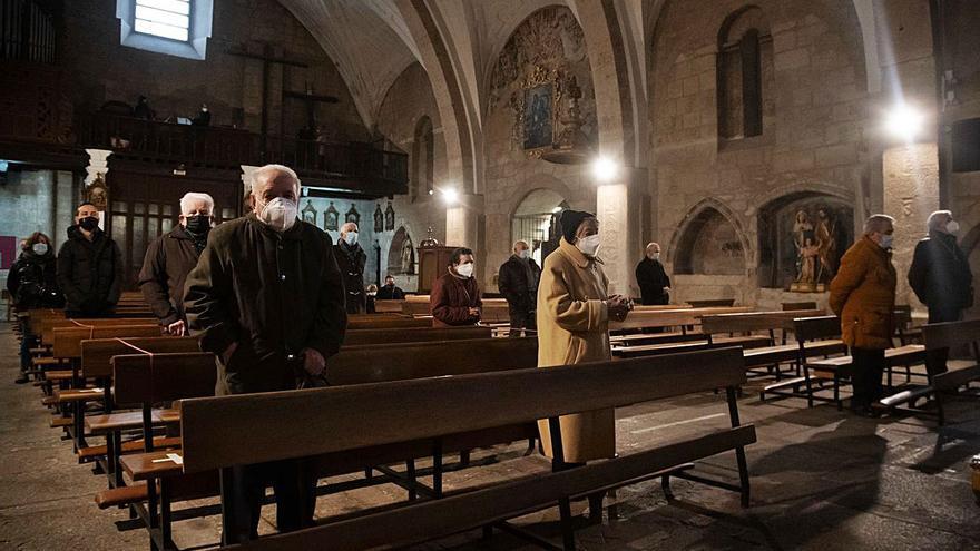 Pequeña celebración por la festividad de San Antón en Zamora