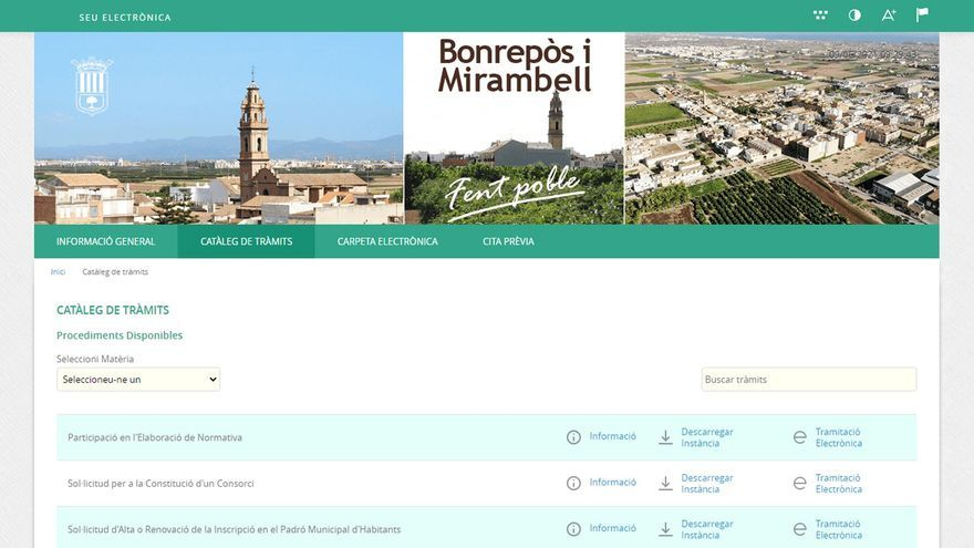 Bonrepòs i Mirambell estrena nueva Sede Electrónica