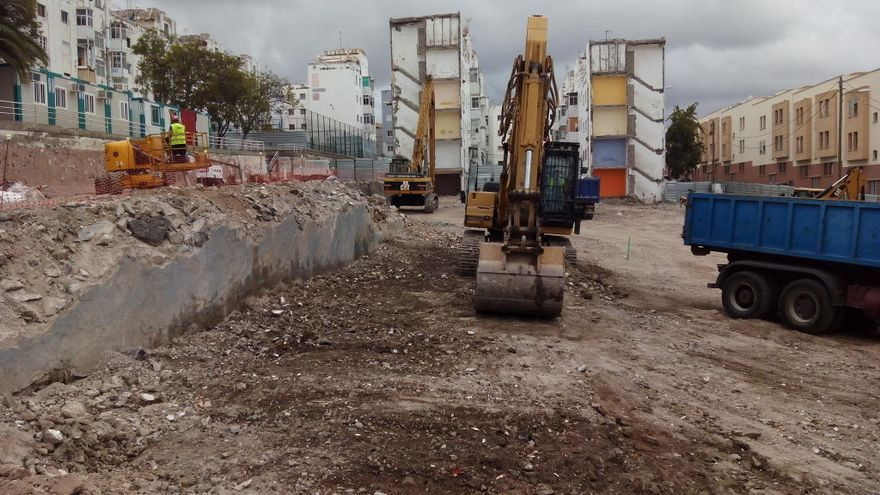 El Ayuntamiento construye dos nuevos edificios en las 'casas baratas' de Tamaraceite