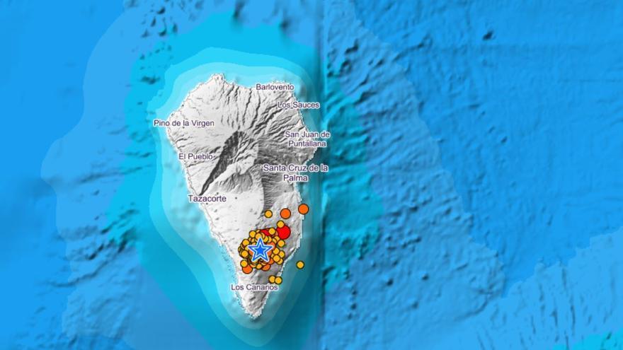 La Palma siente el terremoto más intenso desde el inicio de la erupción del volcán