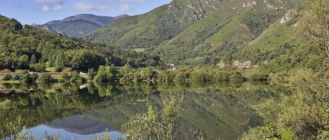 El pantano de Rioseco.