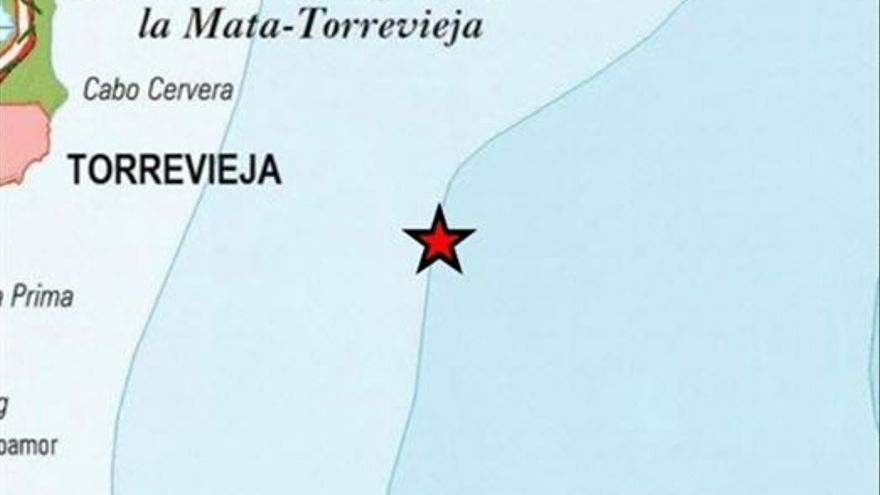 Torrevieja registra un terremoto de 2,3 grados de magnitud