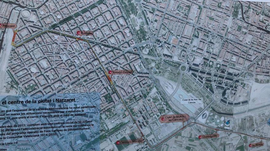 Así serán las estaciones de la línea T10 del metro a Natzaret