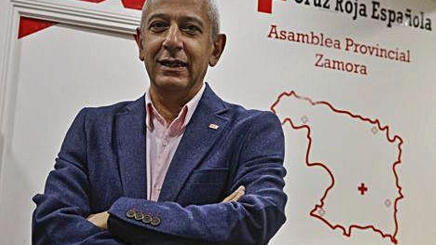 El presidente de Cruz Roja Española en Zamora José Manuel del Barrio.