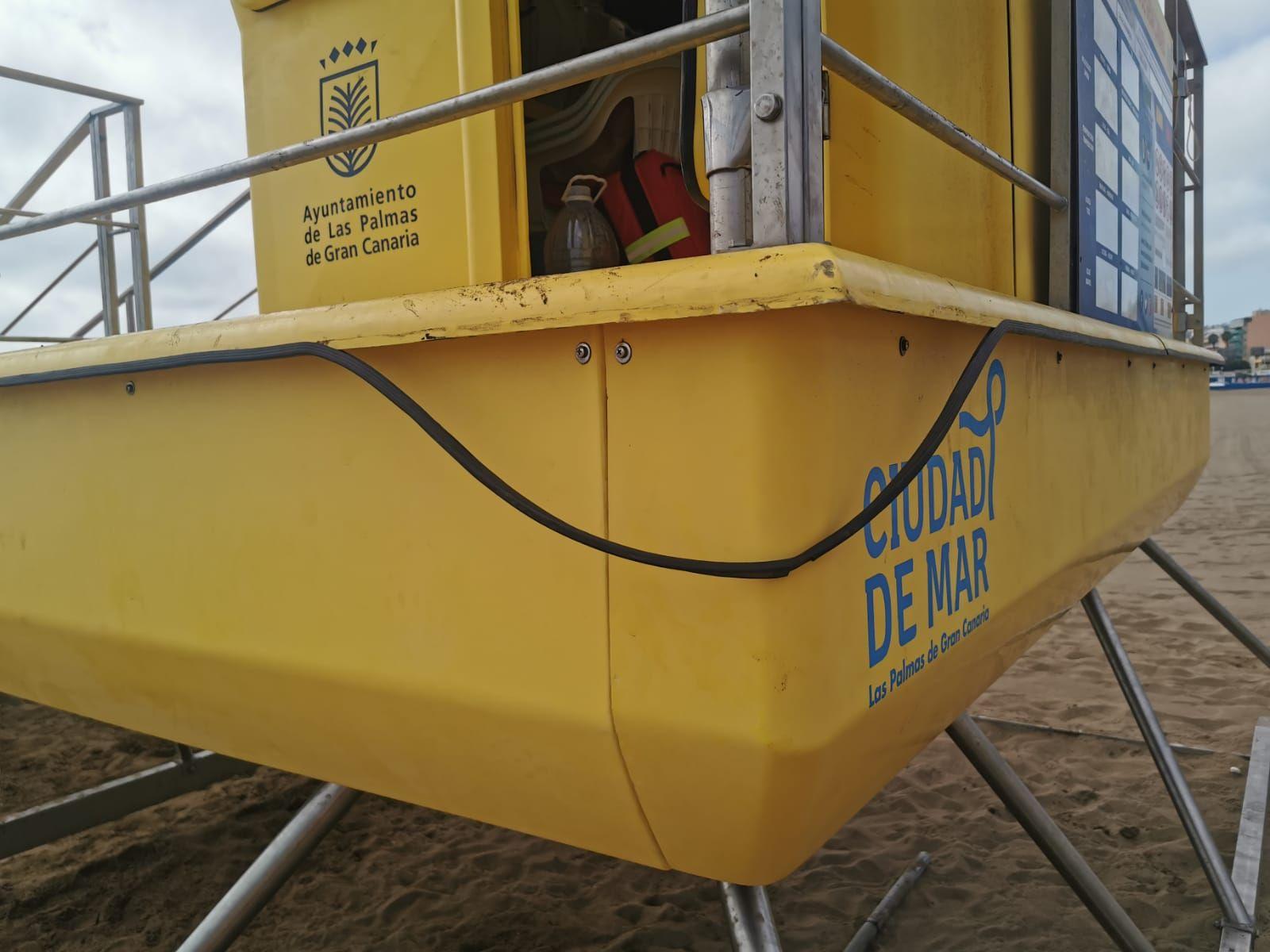 Vandalismo en playas de la capital grancanaria
