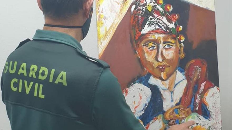 Investigan a un vigués por intercambiar un cuadro falsificado de un pintor profesional