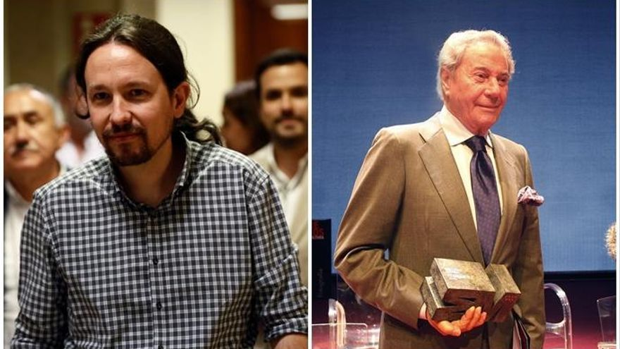 El cameo de Pablo Iglesias como actor con Arturo Fernández