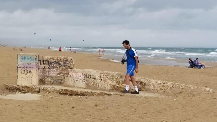 Hallan vestigios de ocho nidos de ametralladoras en las playas de Dénia