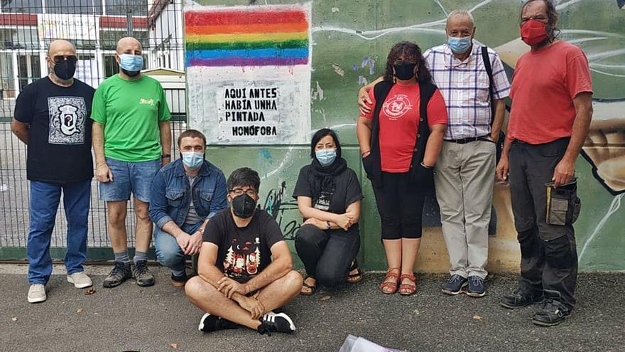 El BNG devuelve el arcoíris Lgbti al instituto Miraflores