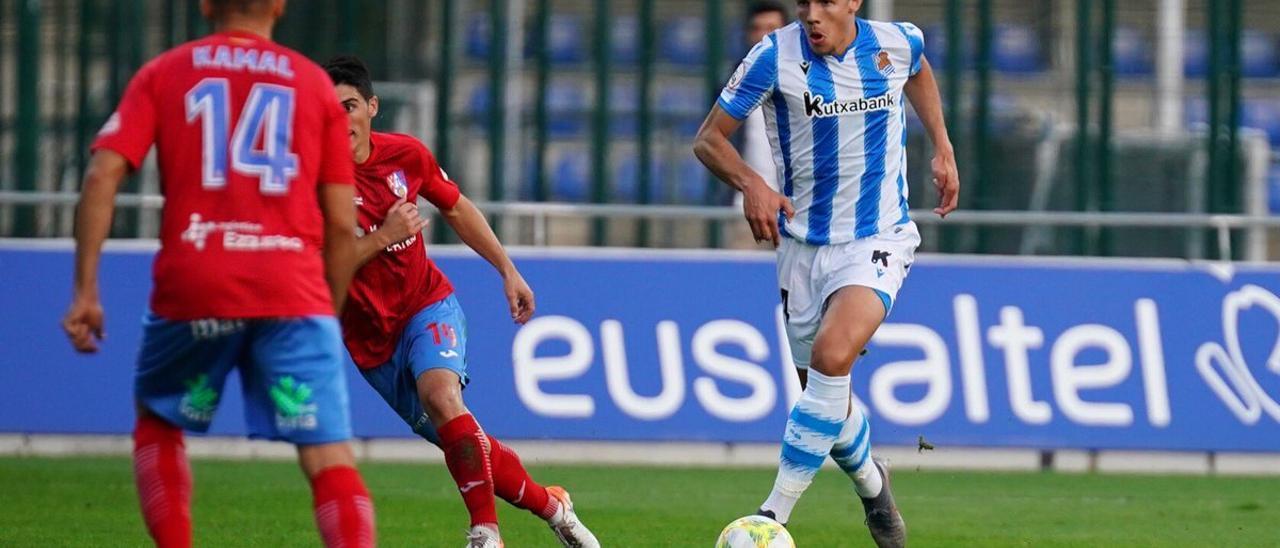 El centrocampista del Sanse Unai Veiga.
