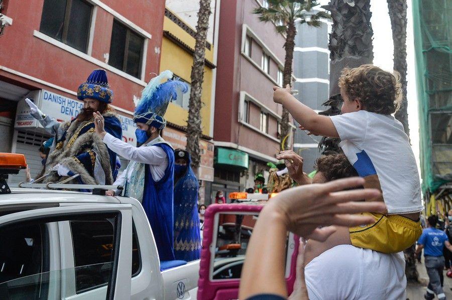 Caravana de los Reyes Magos en la capital grancanaria