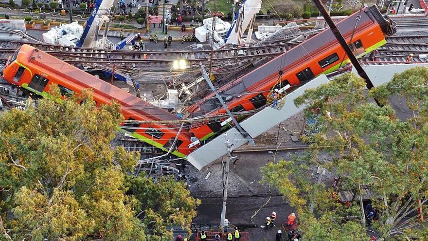 Almenys 24 morts en desplomar-se una via del metro a Ciutat de Mèxic