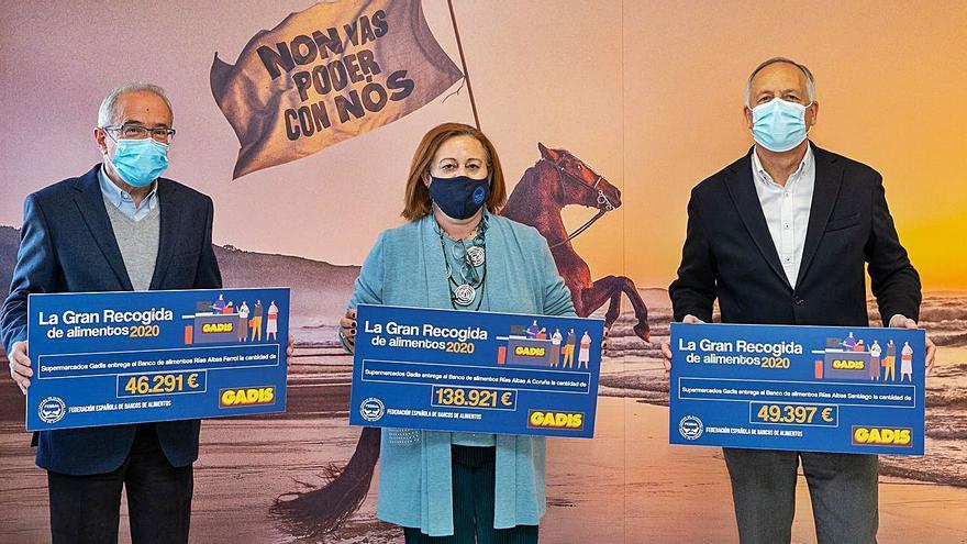 Gadis entrega más de 234.000 euros al Banco de Alimentos