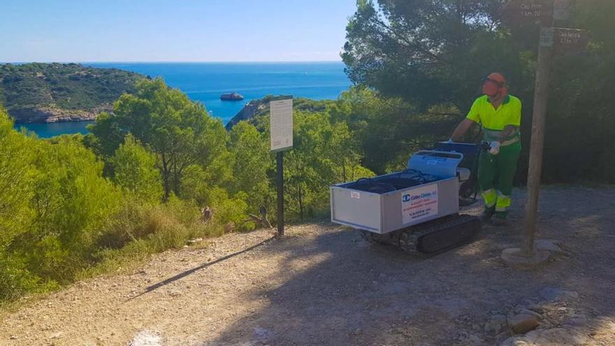 Xàbia arregla las sendas del Portitxol