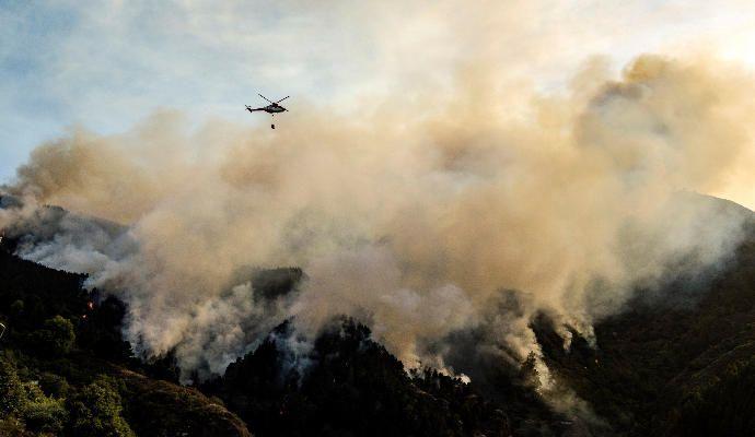 Incendio en Valleseco