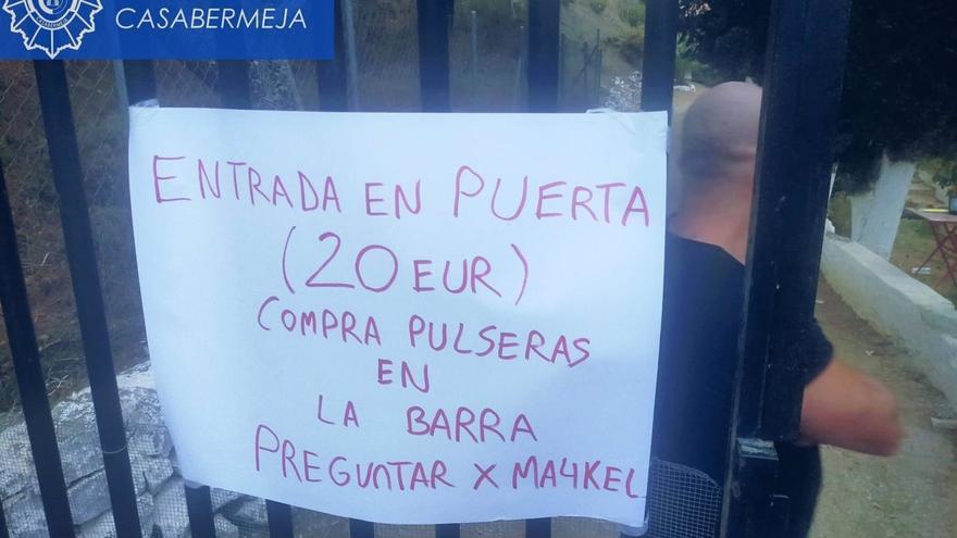 La Policía Local de Casabermeja interviene en una fiesta ilegal que duró más de 18 horas