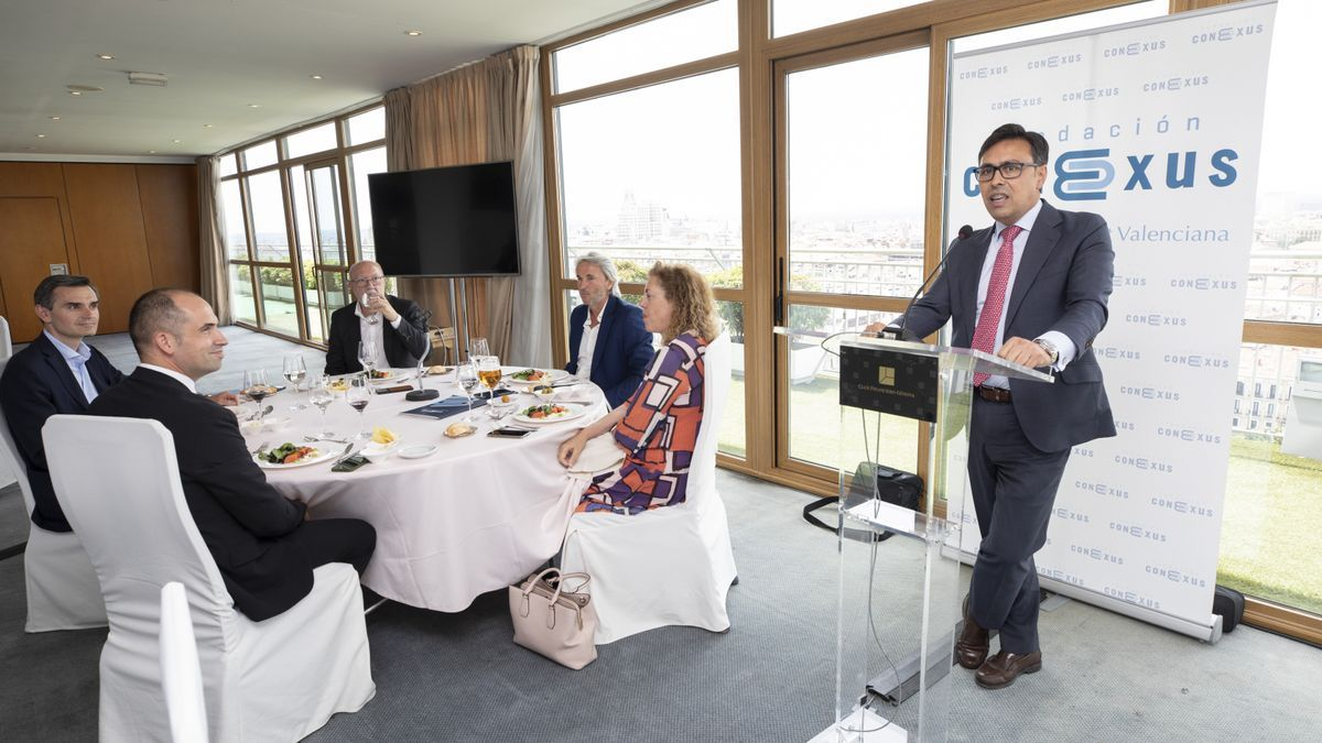 Un momento de la reunión del patronato de la Fundación Conexus.