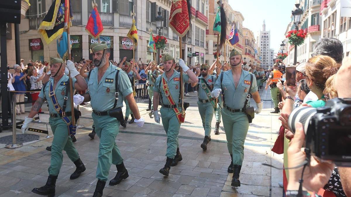La Legión, desfilando por la calle Larios en 2018.