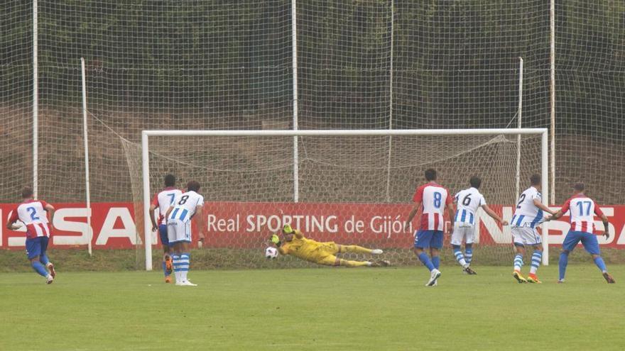 El Sporting B rescata un punto al final que sabe a victoria ante la Real Sociedad B