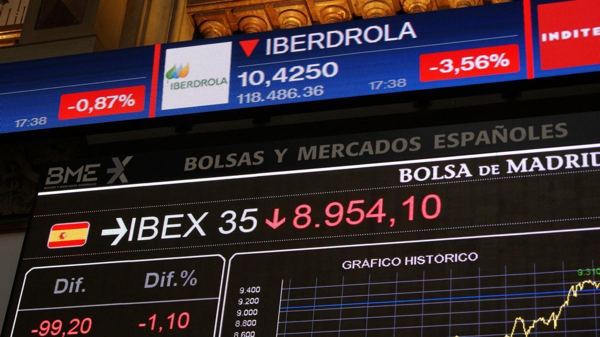 La Bolsa española recupera los 9.000 puntos.