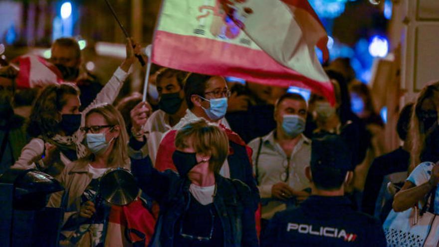 Protestas en Madrid contra el estado de alarma
