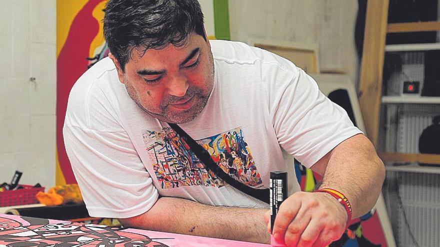 José Luis Mesas, el artista con el cuadro más grande del país y dos donaciones al Vaticano
