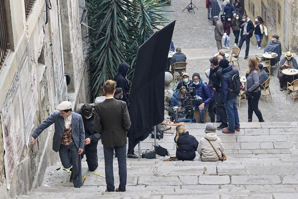 El rodatge del film alemany «The Path» al Barri Vell de Girona