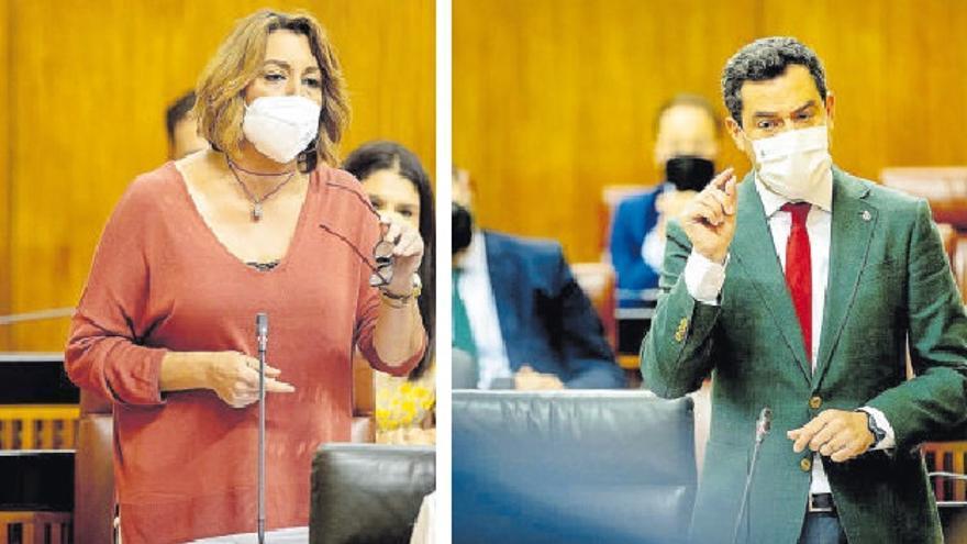 Rifirrafe parlamentario entre Susana Díaz y Juanma Moreno a cuenta de la pandemia