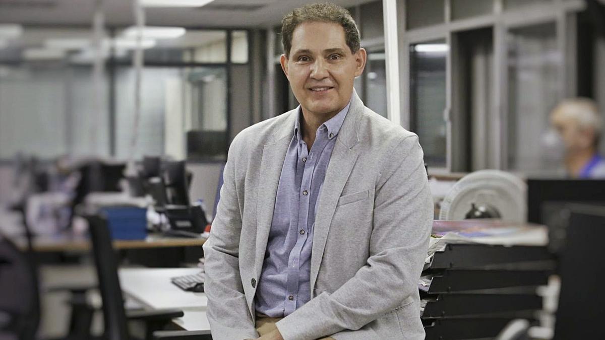Ismael Pérez, psicólogo jurídico y forense, ayer en la redacción de EL DÍA. | | DELIA PADRÓN