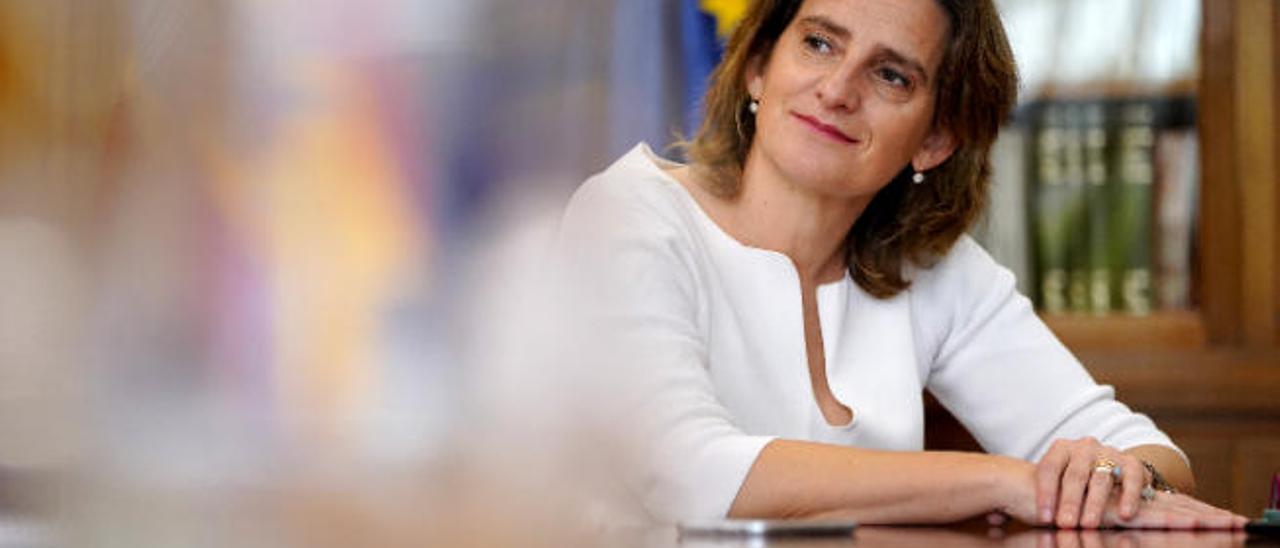 Teresa Ribera, en un momento de la entrevista.