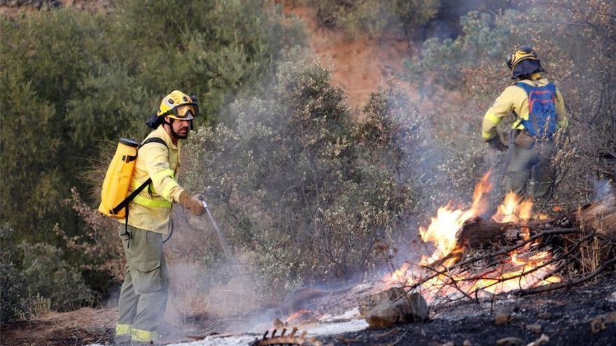 Extinguido un incendio forestal en el término municipal de Carcabuey