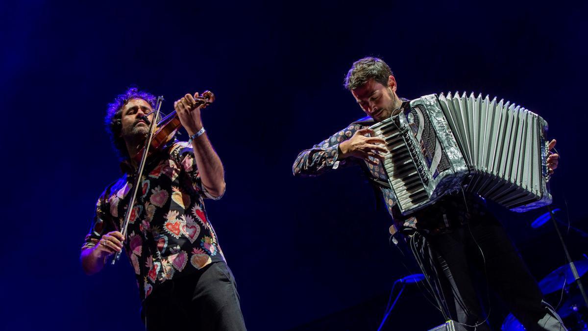 La banda madrileña durante su concierto en Aranda de Duero