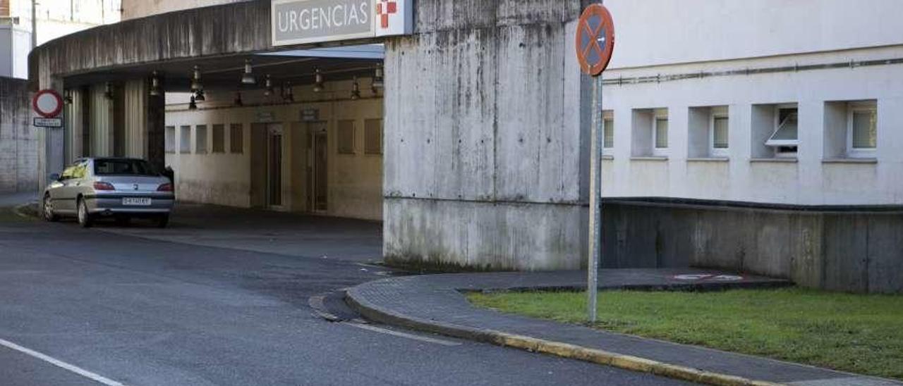 El acceso al servicio de urgencias del Hospital Valle del Nalón.