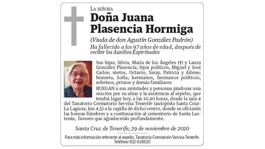 Juana Plasencia Hormiga