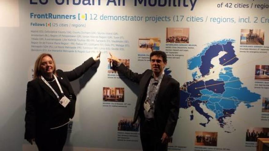 Llíria lleva a Amsterdam su modelo de comercio de proximidad con drones