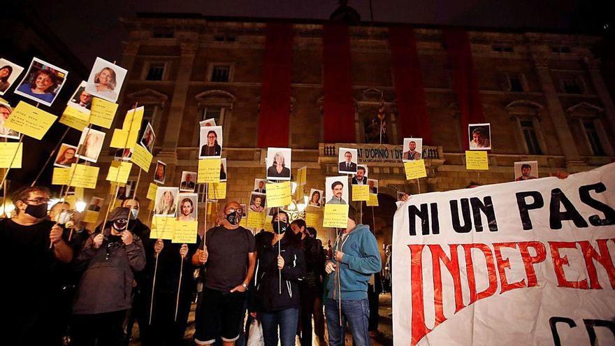 Los secesionistas piden la aministía en el tercer aniversario del 1-O