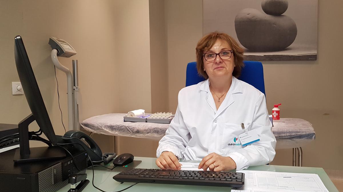 Lourdes Romualdo, alergóloga de QuironSalud Marbella.