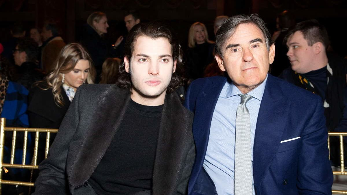 Harry Brant, junto a su padre, Peter.