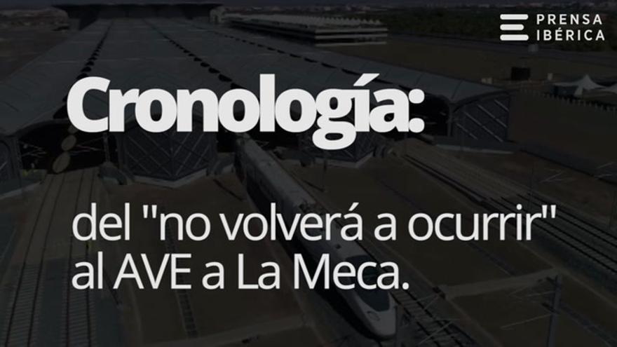 """Cronología: del """"no volverá a ocurrir"""" de Juan Carlos I al AVE a La Meca"""