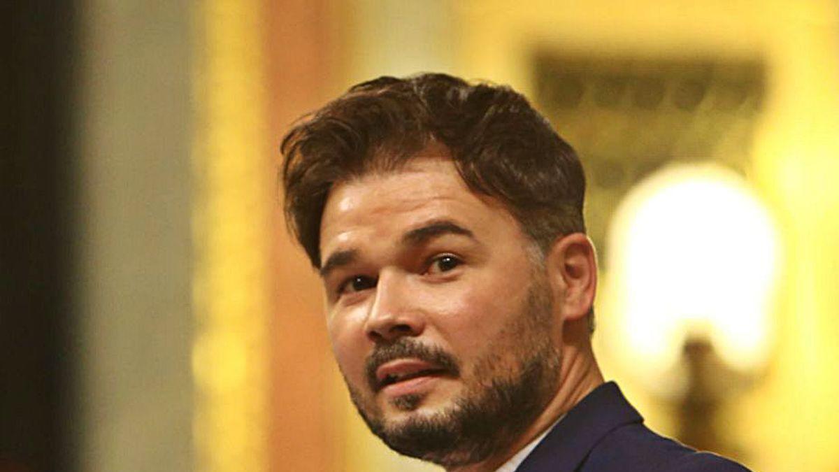 Gabriel Rufián interviene en el Congreso de los Diputados.