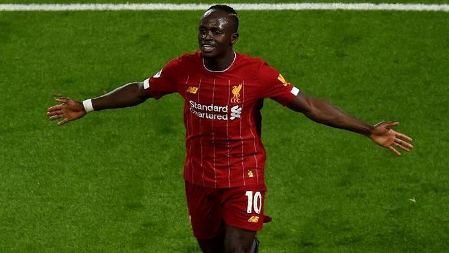 El delantero del Liverpool Sadio Mané se recupera en Son Bibiloni
