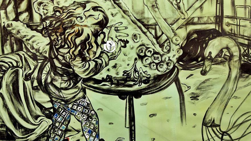 Dibujo de un cisne de Marta Beltrán.