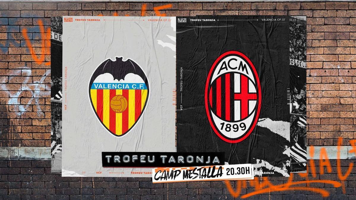 El AC Milan será el rival del Valencia en el regreso del Trofeu Taronja