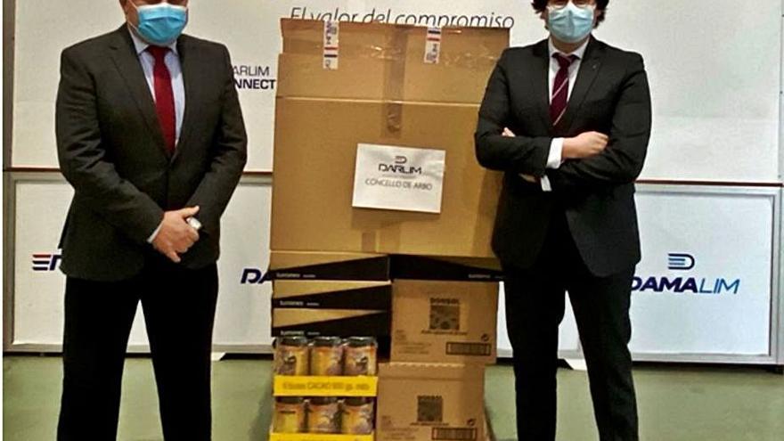 Darlim dona más de tres toneladas de comida y kits de higiene estas fiestas