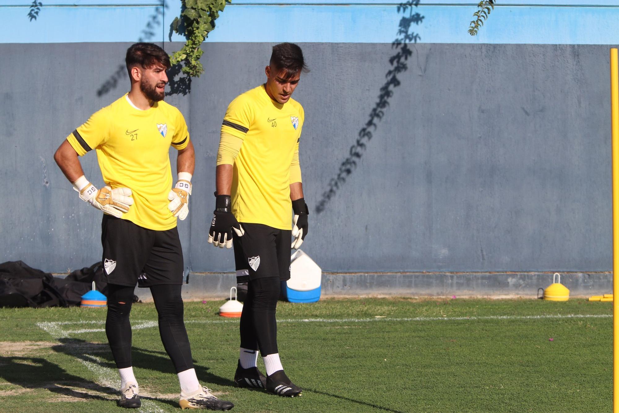 Primer entrenamiento del Málaga CF
