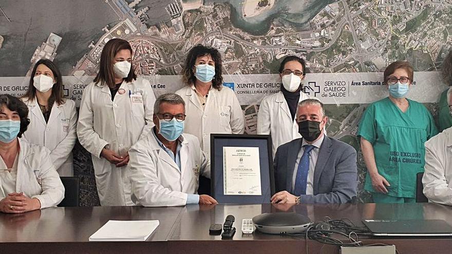 Certificado de calidad para la Unidad de Criobiología del Chuac