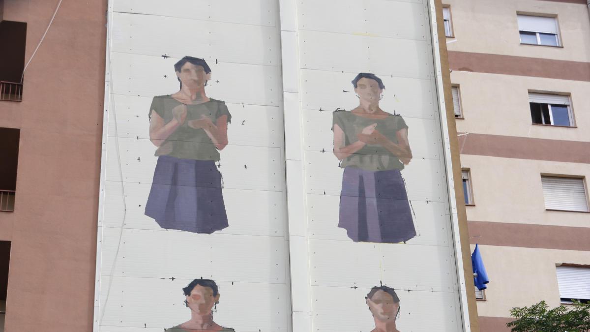El mural a Sant Narcís.