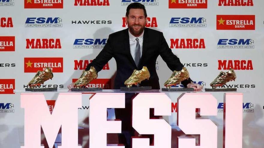 """Messi recibe su quinto galardón: """"Amo el fútbol, pero nunca imaginé tanto"""""""