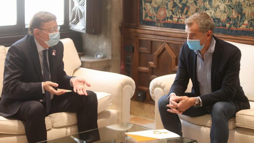 Puig y Cantó escenifican su acercamiento y pactan auditar ingresos y gastos del Consell