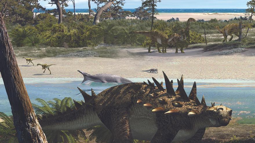Descubren fósiles de un dinosaurio que era inédito en Cinctorres